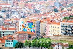Een mening van Baixa DE Lissabon van Castelo DE São Jorge Royalty-vrije Stock Fotografie