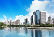 Een mening van Bangkok stock foto's