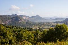Een mening van berg boslandschap Royalty-vrije Stock Fotografie