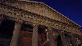 Een mening van de belangrijkste ingang van de historische tempel van Pantheon in Rome Stock Afbeeldingen