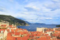 Een mening van de beroemde stad van Dubrovnik in Kroatië Stock Foto