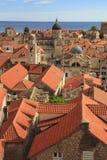 Een mening van de beroemde stad van Dubrovnik in Kroatië Royalty-vrije Stock Fotografie