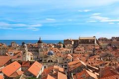 Een mening van de beroemde stad van Dubrovnik in Kroatië Royalty-vrije Stock Afbeeldingen