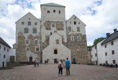 Een mening van de binnenplaats van het kasteel van Abo Turku, Finland royalty-vrije stock fotografie