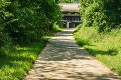 Een Mening van de Blikslager Creek Greenway stock afbeeldingen