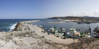 Een mening van de bulkdijk van de Zwarte Zee stock fotografie