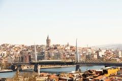 Een mening van de Gouden Hoorn van Istanboel royalty-vrije stock foto