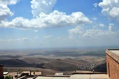 Een mening van de grenzeloze vallei van Mesopotamië stock afbeeldingen