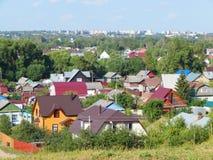 Een mening van de heuvel bij de stad van pereyaslavl-Zalessky Stock Afbeeldingen