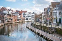 Een mening van de stad van Mechelen, België royalty-vrije stock fotografie
