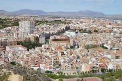 Een Mening van de Stad van Alicante Stock Afbeelding