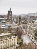 Een mening van de stadscentrum van Edinburgh Royalty-vrije Stock Foto