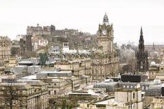 Een mening van de stadscentrum van Edinburgh Royalty-vrije Stock Foto's
