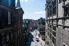 Een mening van de straten op Edinburgh royalty-vrije stock fotografie