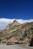 Een mening van de weg aan MT Lemmon in Arizona Royalty-vrije Stock Fotografie