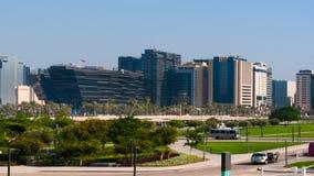 Een mening van Doha de stad in, Doha, Qatar Royalty-vrije Stock Afbeelding