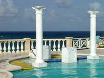 Een mening van een hotel in Barbados Royalty-vrije Stock Foto