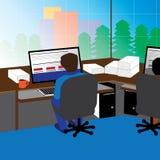 Een mening van een werkplaats Royalty-vrije Stock Afbeelding