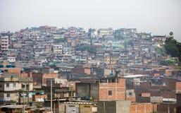 Favelas op de Berg Stock Foto's