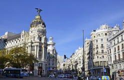 Een mening van Gran via, in Madrid stock fotografie