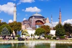 Een mening van Hagia Sophia in Istanboel Royalty-vrije Stock Foto's
