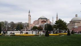 Een mening van Hagia Sophia, Istanboel, Turkije stock fotografie