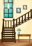 Een mening van het binnendeel van het huis Royalty-vrije Stock Afbeeldingen