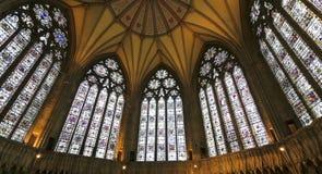Een mening van het Huis van het Hoofdstuk van de Munster van York royalty-vrije stock foto's