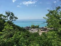 Een mening van het meer door Goderich Ontario Canada Stock Fotografie
