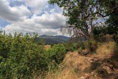 Een mening van het Overzees van Galilee van Onderstel Arbel Stock Foto's