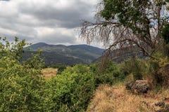 Een mening van het Overzees van Galilee van Onderstel Arbel Royalty-vrije Stock Foto's