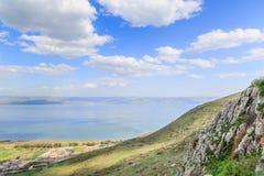 Een mening van het Overzees van Galilee van Onderstel Arbel Royalty-vrije Stock Foto