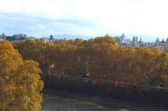Een mening van het Vatikaan, de herfst in Rome Oude Stad stadsstraten, royalty-vrije stock foto