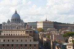 Een mening van het Vatikaan, de herfst in Rome Oude Stad De straten van de stad royalty-vrije stock afbeeldingen