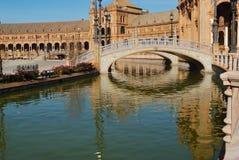 Een mening van het vierkant van Spanje Stock Fotografie