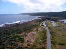 Een mening van het vogelsoog van een dorp in de Zuidwestenhoek van Westelijk Australië Royalty-vrije Stock Afbeeldingen