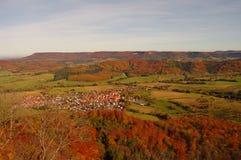 Een mening van kasteel Hohenzollern in Swabian Royalty-vrije Stock Afbeeldingen