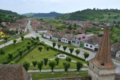 Een Mening van klein dorp Royalty-vrije Stock Foto