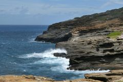 Een mening van Lanai-Vooruitzicht in Honolulu Oahu Hawaï stock afbeeldingen