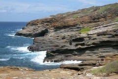 Een mening van Lanai-Vooruitzicht in Honolulu Oahu Hawaï royalty-vrije stock fotografie