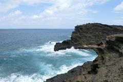 Een mening van Lanai-Vooruitzicht in Honolulu Oahu Hawaï stock foto