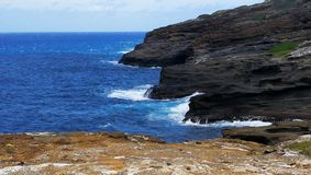 Een mening van Lanai-Vooruitzicht in Honolulu Oahu Hawaï royalty-vrije stock afbeeldingen