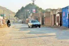 Een mening van land raod in Punjab stock afbeelding