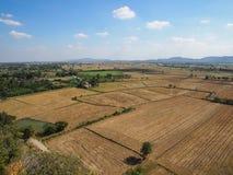 Een mening van landbouwgebied, landschap Stock Afbeeldingen