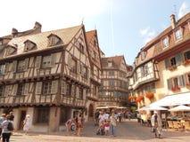 Een mening van mooie Colmar, in het hart van de Elzas royalty-vrije stock afbeeldingen