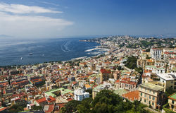 Een mening van Napoli, Italië Royalty-vrije Stock Afbeeldingen