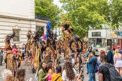 Een mening van Notting-Heuvel Carnaval Londen 2018 royalty-vrije stock afbeeldingen