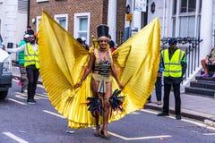 Een mening van Notting-Heuvel Carnaval Londen 2018 stock fotografie