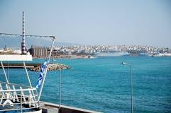 Een mening van Piraeus Stock Fotografie
