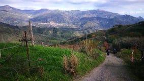 Een mening van platteland in Sicilië Royalty-vrije Stock Foto
